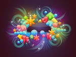 Badge With Abstract Background 5 by Viscious-Speed