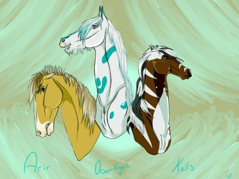 Three Future Friends by HorseWolfLover