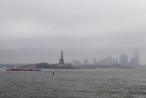 View of NY, Staten Island ferry 02 by LucieG-Stock