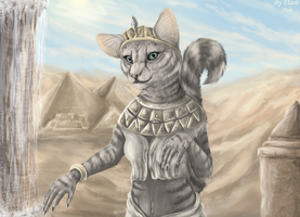 Egyptian cat by FlashW