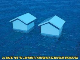 Lament for Japanese Earthquake by ozanbdesign
