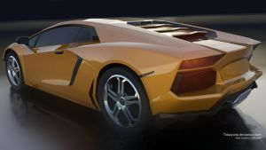 lamborghini aventador 2011 BackSide by Tidusyuna
