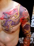 japanese dragon front by mojoncio