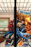 Spidey VS the Fantastic Four by GURU-eFX