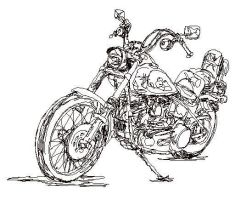 Chester's Ride QuickSketch by zekesgraphics
