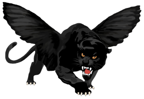 Flying Panther Logo (Alone) Favicon by GoffDesigns