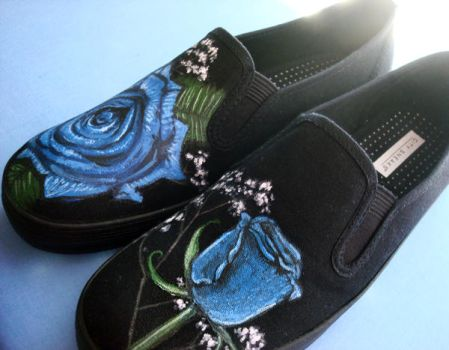 Blue Rose Shoes 2 by sheratosh