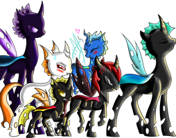 The Mane Six Changelings by mechafone