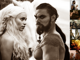 Drogo and Daenerys WP by DarkPixieTears