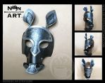 Dark Armored Leather Horse Mask by nondecaf
