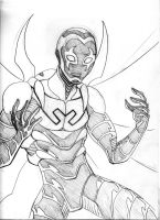Blue Beetle Sketch by LucianoVecchio