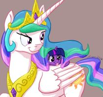 Princess Celestia has Sparkles in her Hair by Snapai