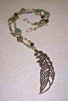 Feathered adventures necklace by asukouenn