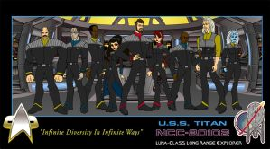 Star Trek: Animated Titan: Bridge Crew by DarKodent