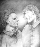 Tech N9ne and Michael Myers by funkymarshstomper