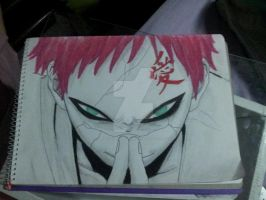 Gaara Sketch by SGreavesPhotography