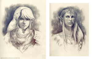 LoZ Sketches by EternaLegend