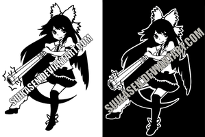 Okuu Decal Logo Design by Suikasen