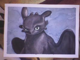 Toothless watercolor by JoAsia9