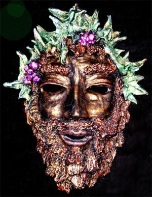 Dionysus Clay Mask