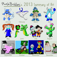 2013 drawings summary by PlushBuddies