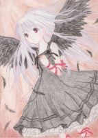 ascending black angel by Fallheart