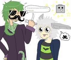 MUSTACHE DETETCTIVE AND AGENT MOTHY by TentacleCutie