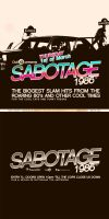 Sabotage Flyer by 1NNU3NDO