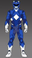 MMPR Blue Ranger Concept by monstrous64