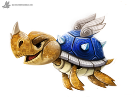 Day 843# Blue Koopa by Cryptid-Creations