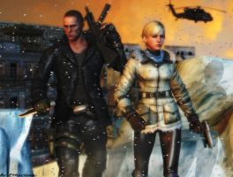 Resident evil wallpaper Jake and Sherry 2 by ethaclane