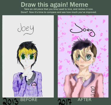Draw This Again Meme: Joey by Nightfest
