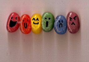 jelly beans rainbow emotions by Stalaxy