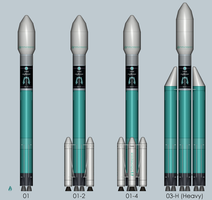M-II Launch Vehicle Family by jedi-one