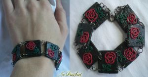 Bracelet Roses and coal by ProSvet