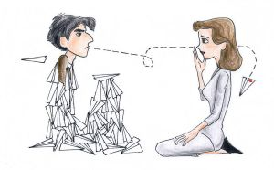 Blasphemy! Disney's Paperman in Color (sort of) by traces-on-a-page