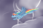 Ever soar past lightning? by Kilroywuzheere
