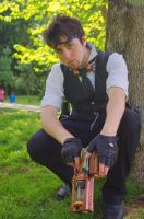 Tristan reloading his gun. by SteampunkChile