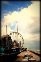 Pier in Daytona Beach by SnapColorCreations