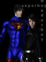 Superboy-and-Wonderboy by kiwihobbit