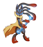 Mega Lucario by Foxiford
