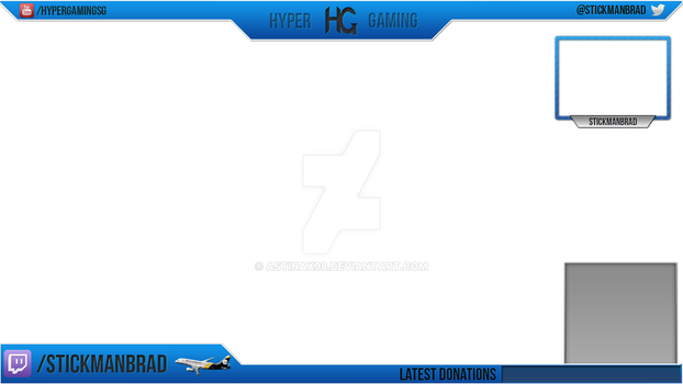 Twitch overlay for HyperGaming by Astinax98