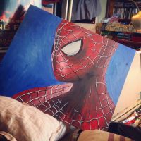 With Great Power - Painting (Spider-Man) by marty-mclfy