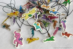 Shrink Plastic Dragon Charms by HowManyDragons