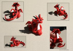 Draco the Red Dragon Montage My 1st Dragon by ItsaBumbleDee