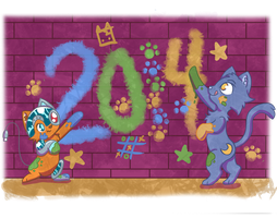 Happy 2014 by PhantomPhoenix4