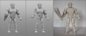 3D printed Caveman Action Figure Construction by hauke3000