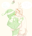 K2 under the mistletoe by LilSnowFox