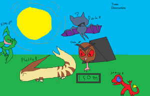 Pokemon Mystery Dungeon Meet Team Destruction by echosnake