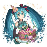 Happy Birthday Hatsune Miku!! by CentaurHillZone